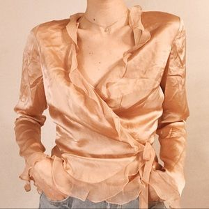 Vintage Silk Wrap Top
